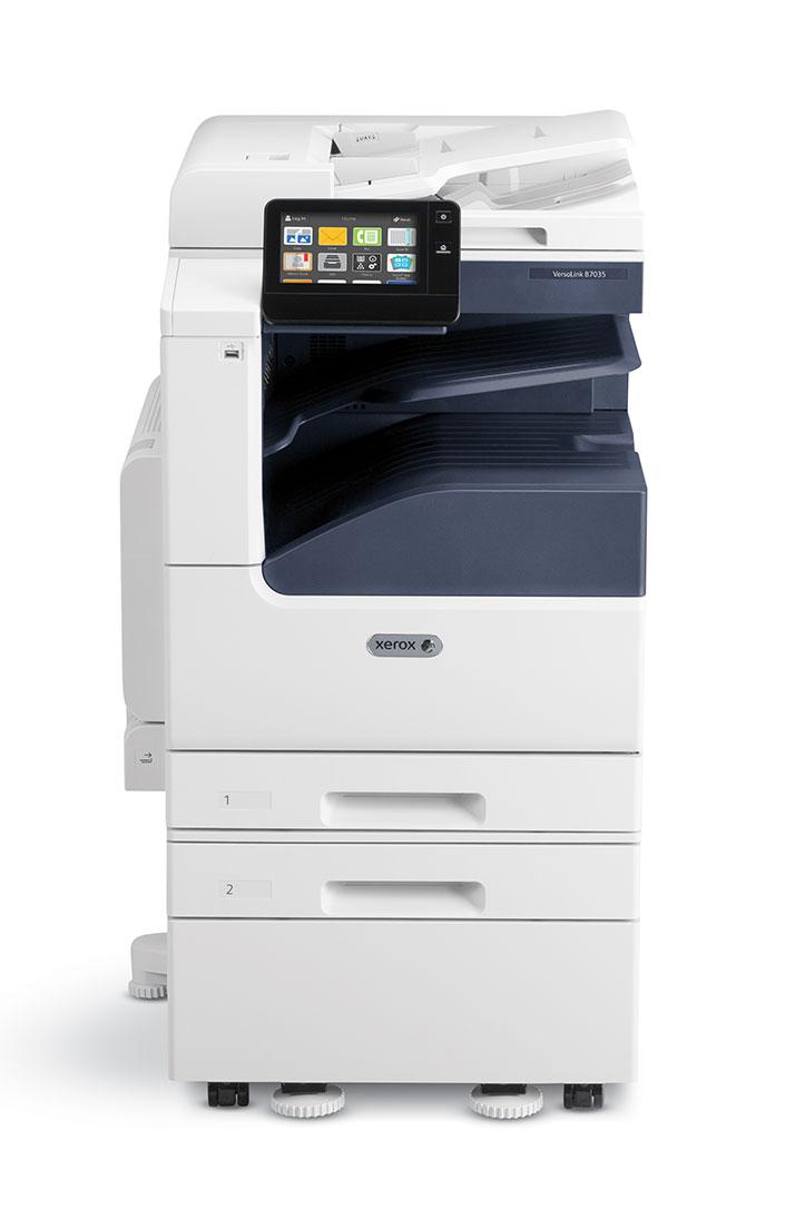Impressora B7030 de frente disponível no aluguer de fotocopiadoras