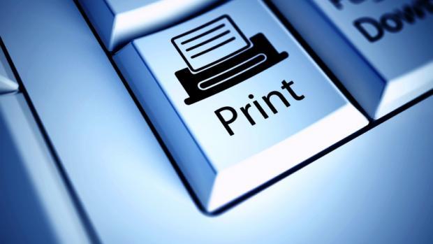 tecla print simbolizando a impressão de uma impressora multifuncional