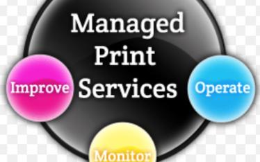 Quatro círculos a ilustrar o MPS para fotocopiadoras laser